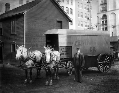 Horse et Wagon Central Dray Company 1915 N1777 08-057